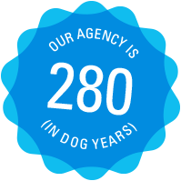 Our agency is 280 years old (in dog years)
