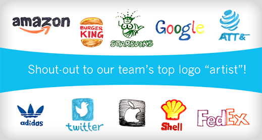 Shout-out to our teams's top logo 'artist'!